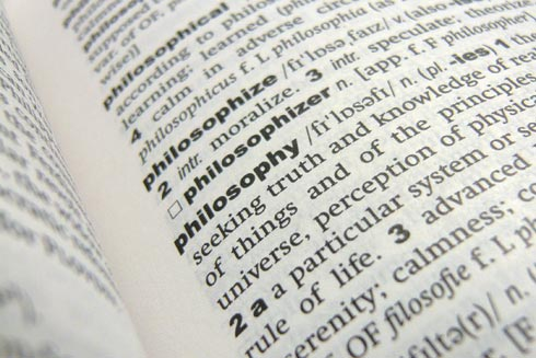philosophy terms definitions The noun philosophy means the study of proper behavior, and the search for  wisdom.